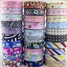 20 мм 3/4 дюйма смещенная лента хлопковая с цветочным рисунком полосатая буд-лента для окантовки самодельная одежда швейный материал ручной р...