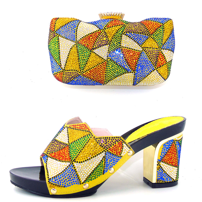 ФОТО 2017 New Fashion Italian Shoes with Matching Bags For Party African Shoes And Bags Set for Wedding Shoe And Bag Set HHY1-5