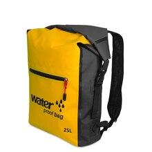 25л Водонепроницаемый мешок для сушки рюкзак Открытый речной походный мешок альпинизм дрейфующий плавание путешествия непроницаемый ПВХ сумки новые