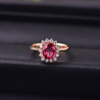 Spinel inlaid 18K Gold Ring Stimulate body energy and strength. Specification: 7.2mm*5.4mm.
