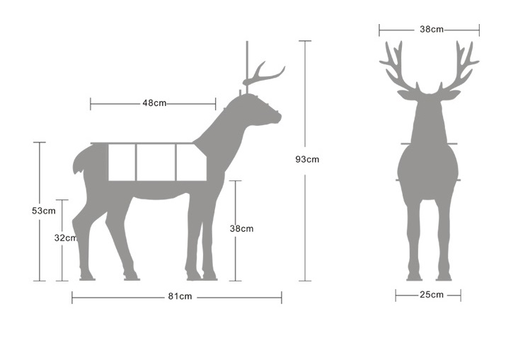 M size deer table