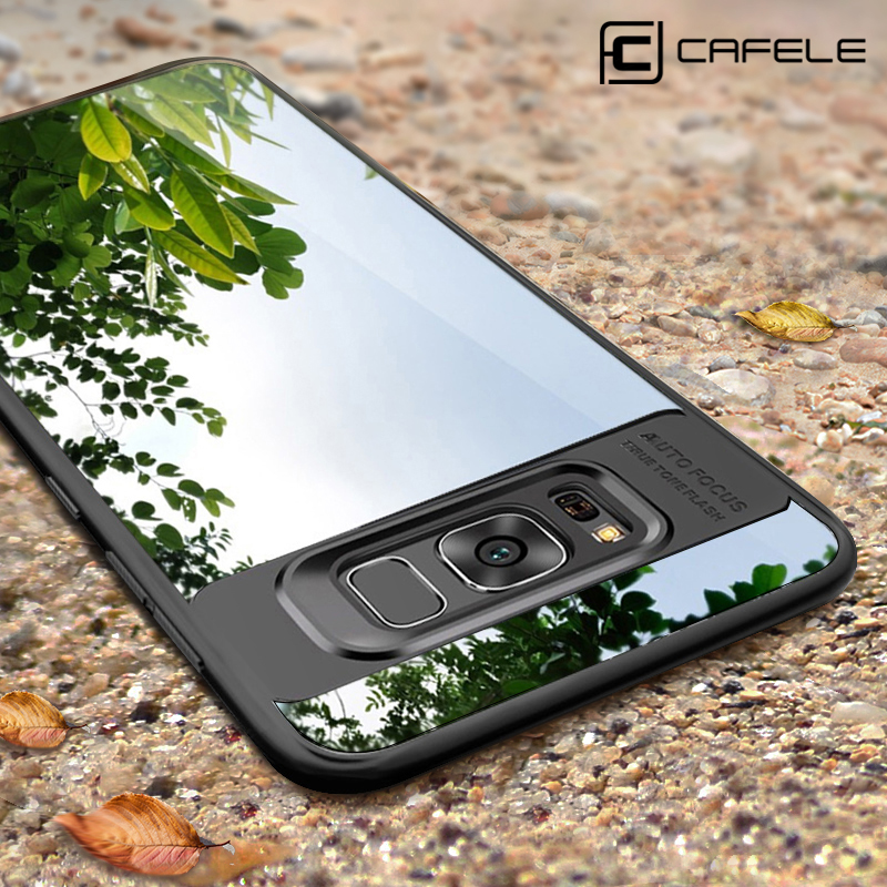 competitive price 446a0 dd3e4 Slim Samsung Galaxy S8 Plus TPU + PC Cover For Samsung Galaxy S8  Transparent Ultra Thin Protective Full Case