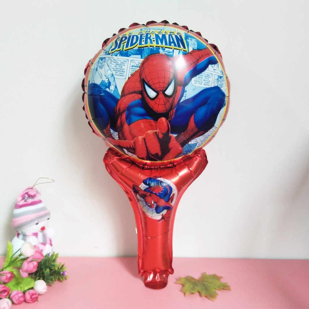 XXYYZZ ברזל איש, גיבור ספיידרמן יד כף קסם מחבט כף יד קסם מקל יום הולדת אלומיניום בלון צעצוע סיטונאי