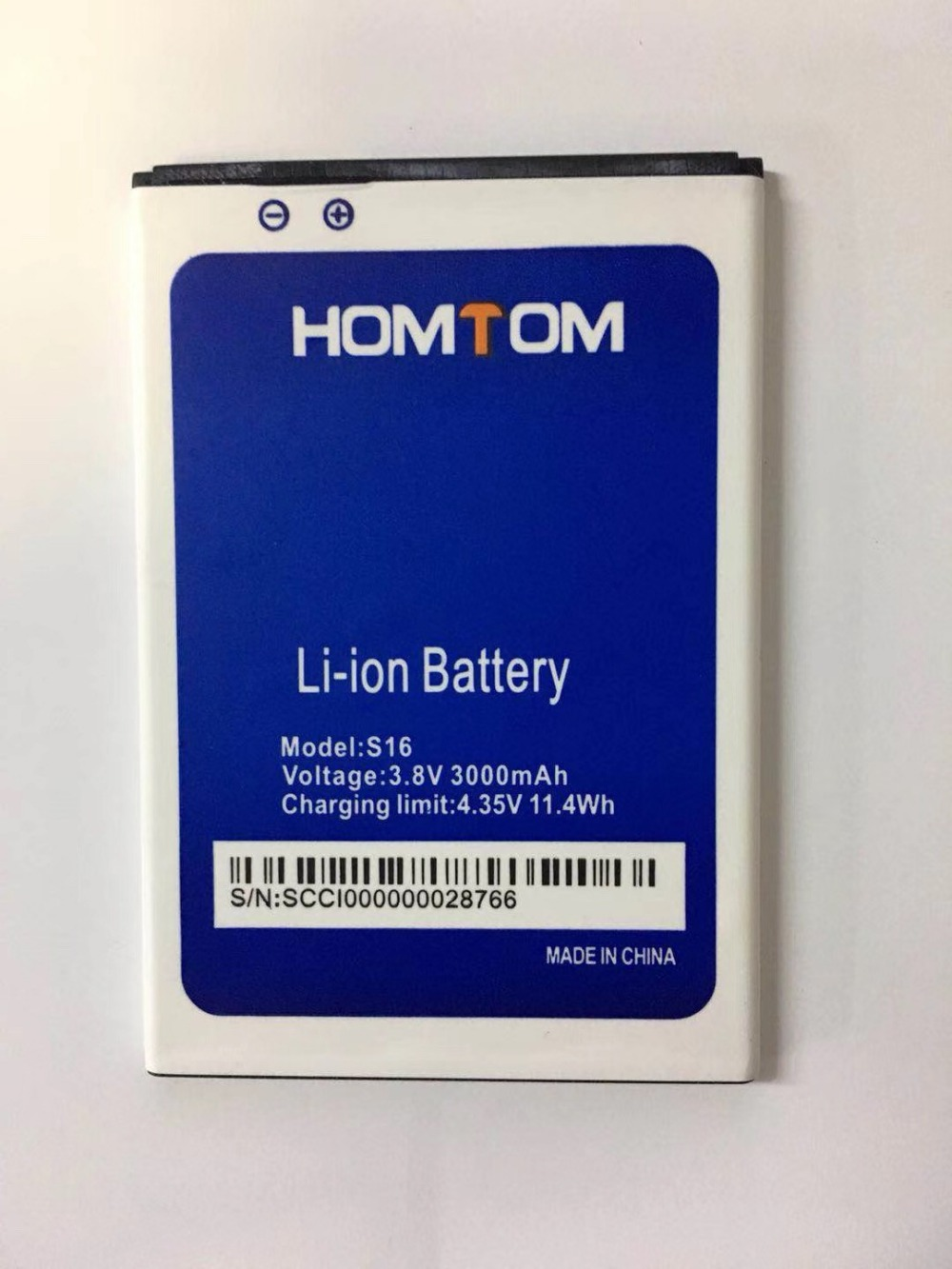 MATCHEASY 3000mAh battery for HOMTOM S16 5.5inch MTK6580 Smartphone title=
