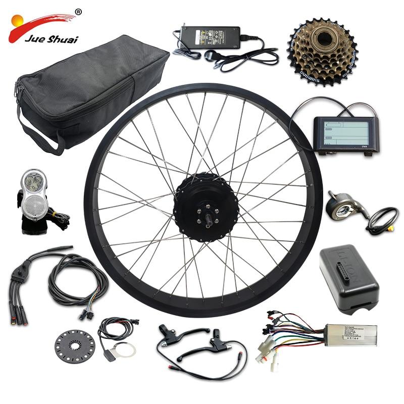 "20"" 26"" 4.0 Electric Bike Kit 48V 1000W with 48V16AH/20AH/LG26A Battery Fat Tire Rear Motor Wheel Electric Complete Ebike Kit"