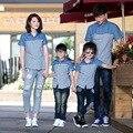 2016 Family Clothing madre e hija coincidencia ropa , aman A los niños de moda de verano de ocio camisa para una familia de tres V-q4280