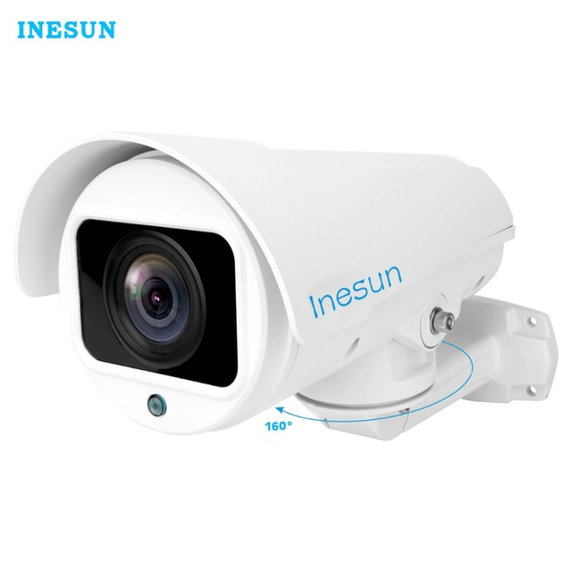 Inesun Extérieure HD 1080 p 2MP/4MP PTZ IP Caméra de Sécurité 4X/10X Optique Zoom Soutien H.265 ONVIF 2.4 IR Vision Nocturne Imperméable À L'eau