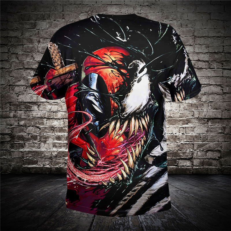 DropShipping New Design For Men's Women's T shirt Summer 3D Printing Venom High Quality Funny Tees Shirts Tops Plus Size US Size