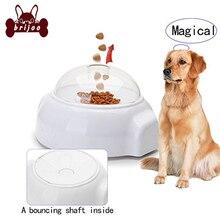 Автоматическая собака игрушки для кормушек смешная катапульта Метатель головоломка игрушка для собак Pet Интерактивная еда кормление диспенсер лечение пусковая игрушка