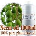Grátis shopping100 % de óleos de base vegetal puro chinaberry óleo 1000 ml-prensado a Frio do óleo de nim Matar os parasitas, remover ácaros