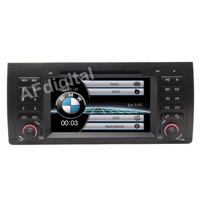 7 HD Capacitive Touch Screen Car DVD Player GPS Navigation for BMW E39 E53 X5 Bluetooth Radio RDS USB IPOD with Original BMW UI