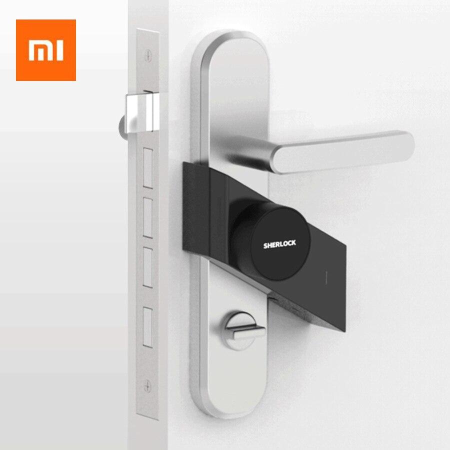 купить Newest Xiaomi Mijia Sherlock M1 Mijia Smart Door Lock Keyless Fingerprint+Password Smart Lock Work to Mi Home App Phone Control по цене 5633.59 рублей