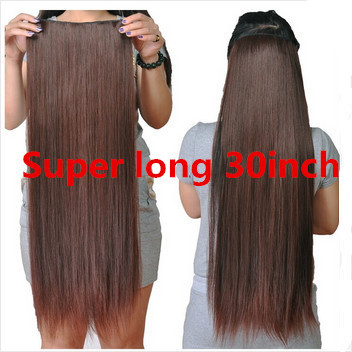 natuurlijke steil haar clip in hair extensions op 30 inch lengte 75 cm super lange blonde haar. Black Bedroom Furniture Sets. Home Design Ideas