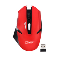 2 4G Wireless Gaming Mouse 6 Buttons Adjustable DPI 800 1200 1600 Mute Game Mice Portable