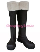 Custom Made Japanese Anime Winter Version Vocaloid Kagamine Rin Len Cosplay Shoes Boots For Christmas Halloween