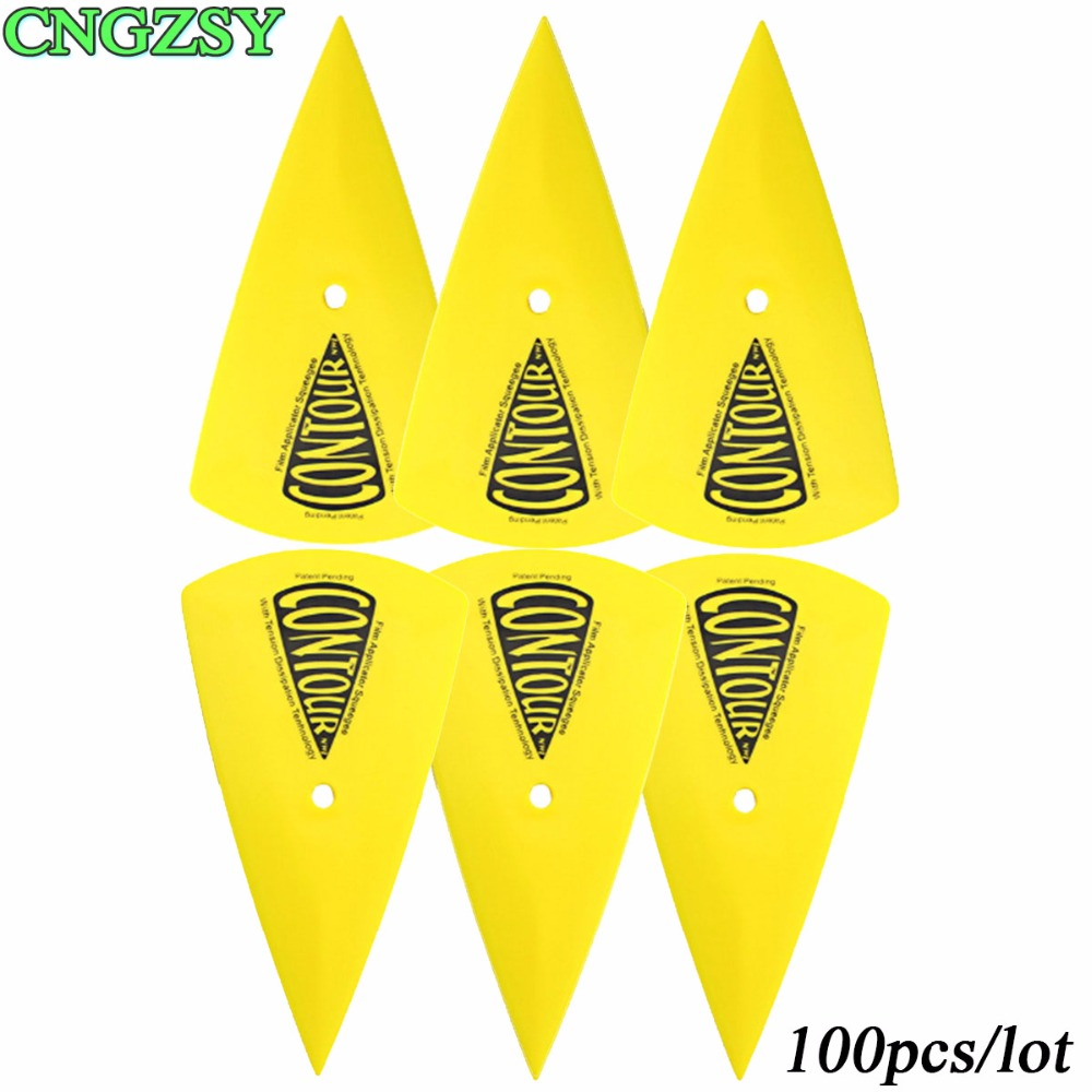100pcs Vinyl Vehicle Car Wraps Decals Sticker Contour Squeegee Window Tinting Film Wrapping Install Applicator CNGZSY 100A13