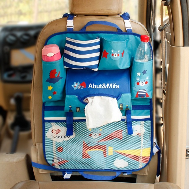 Cartoon Cute Car Back Seat Storage Bag Hanging Store Food Beverage Large Capacity Multifunction Organizer Accessories Products ...