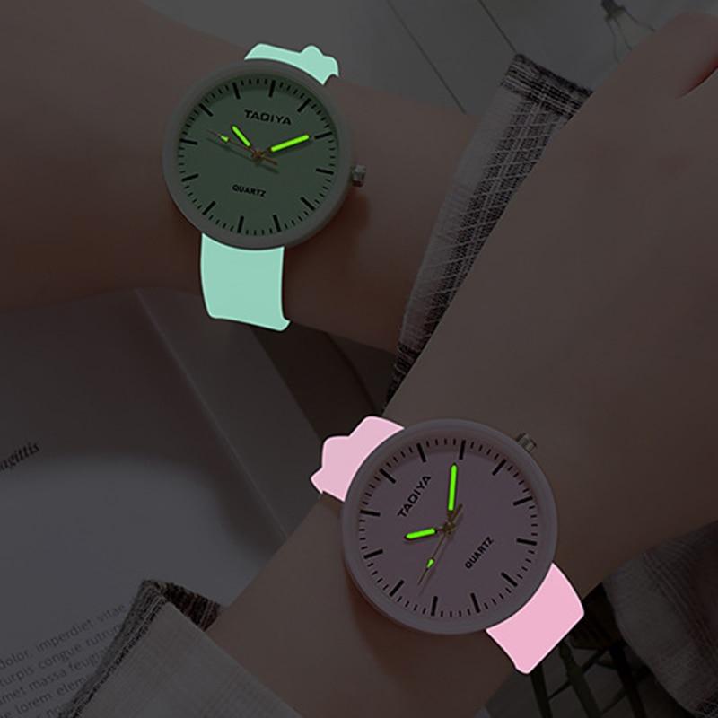 Wholesale Watches Quartz Women Children Creative Luminous Silicone Brand Lovers Romantic Gifts Clock Relogio Feminino Top Sell