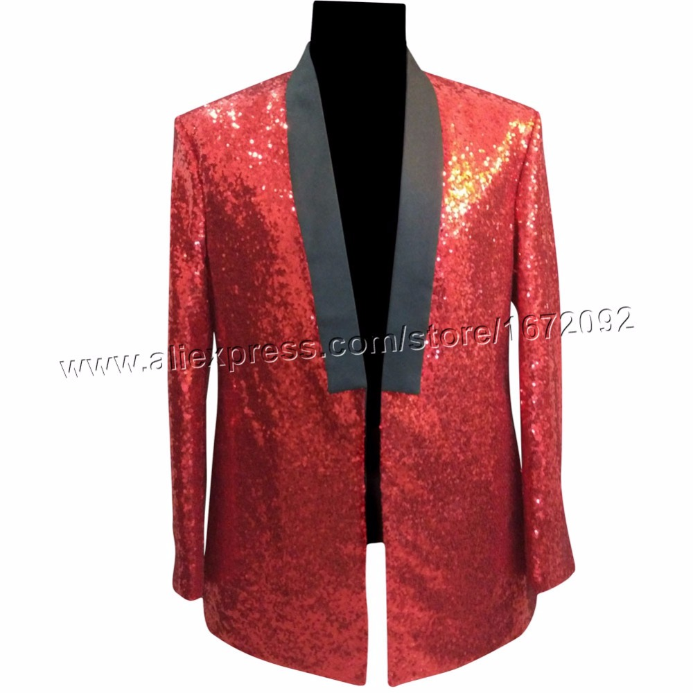 Men red sequin jacket men stage wear stage costumes for singers hommes giacca men jacket mens jackets and coats