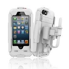 Impermeable de la motocicleta soporte para teléfono soporte del teléfono soporte para iphone 7 5S 6 6 s Bicicleta GPS Sostenedor Del Teléfono Soporte de la Bolsa de Teléfono moto