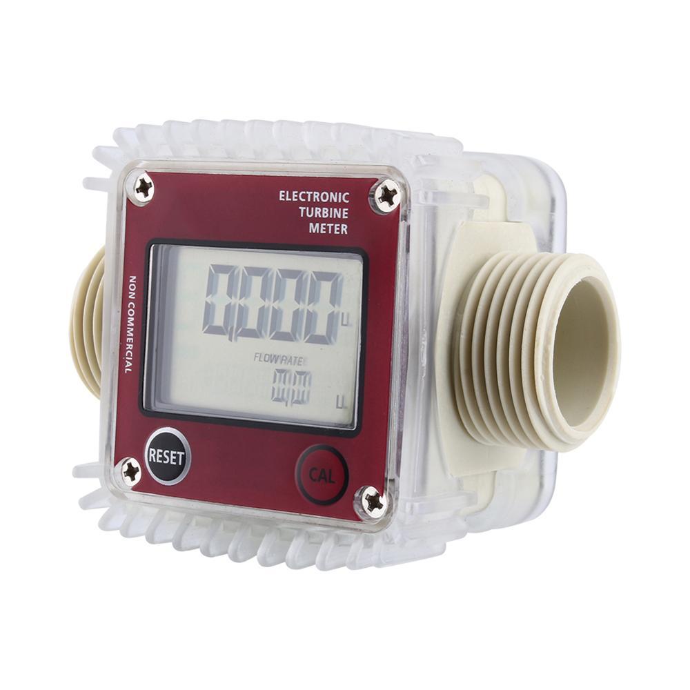Image 3 - Digital LCD Fuel Flow Meter K24 Turbine Diesel Fuel Flow Meter for Chemicals Water Sea Adjust Liquid Flow Meters Measuring Tools-in Flow Meters from Tools