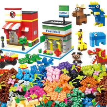 1000 Pcs Building Bricks Set DIY Creative Brick Kids Toy Educational Building Blocks Bulk Compatible With Brand Blocks 450pcs classic idea city building block creative bulk figures diy set brick educational kids toys compatible with all brand