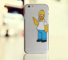 Homer Eating Simpson Clear Plastic Case for iPhone 7 6 6S Plus 4 4S 5 5S