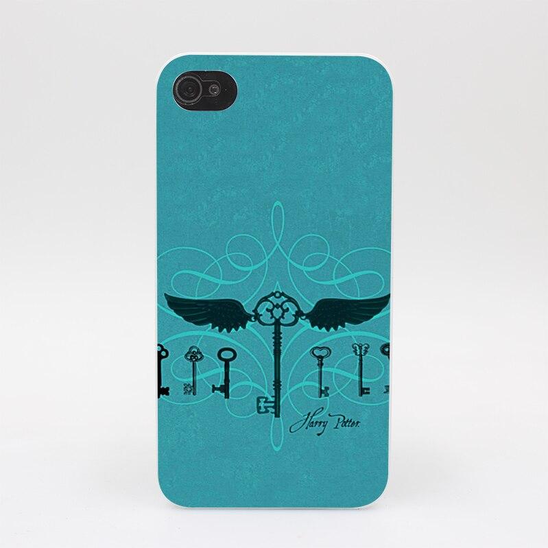 249GS harry potter flying keys Hard White Case Cover for iPhone 4 4s 5 5s 5c SE 6 6s Plus Print