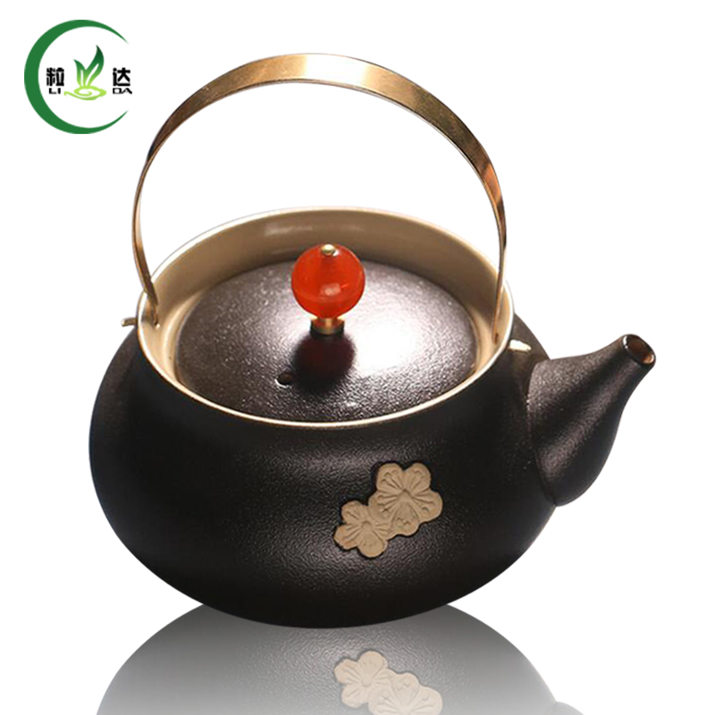 High Quality Black Porcelain Store Teapot Cha Hu Puer Tea Teapot Oolong Tea Teapot Kung Fu Tea Set ...