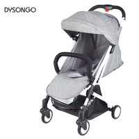DYSONGO Lightweight Baby Carriage Foldable Baby Pram Four Wheel Suspension Travel Stroller With 5 Accessories