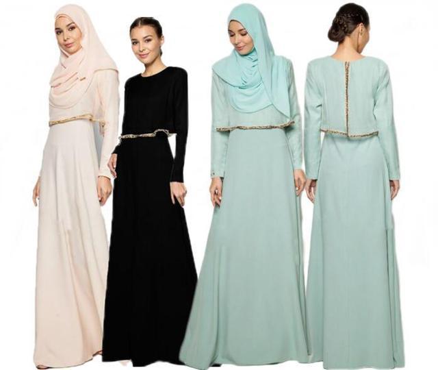 2017 мусульманская одежда Исламская поклонение ложным два Пакистанских Дубай Костюм Девушки