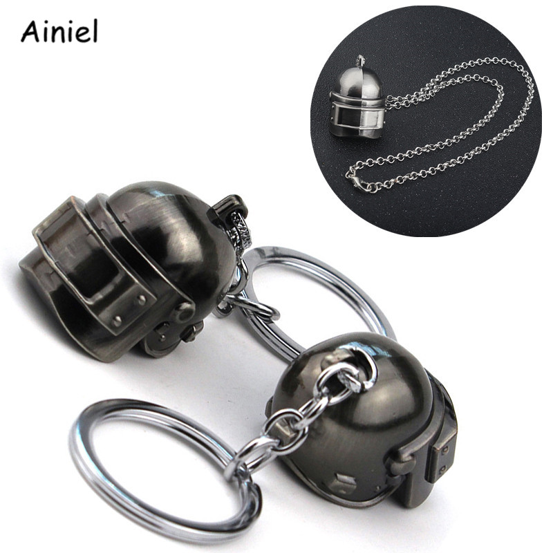 Game Player Unknown's Battlegrounds Cosplay Costumes Key Chain Special Forces Helmet Armor Model Necklace Keychain Jewelry PUBG