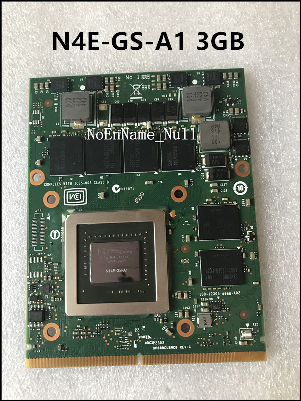 Original GTX <font><b>770M</b></font> GTX770M 3G N14E-GS-A1 Graphic Card For DELL laptop M18X M6600 M17X test 100% image