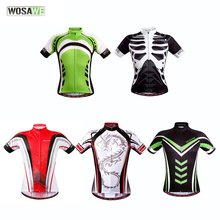 WOSAWE Quick Dry Outdoor Sports Bicycle Clothing Riding Cycling Racing Sport Bike Jersey Tops Cycling Wear Short Sleeves Hot