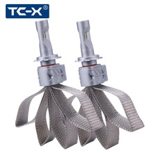 TC-X Lumileds chips Copper belt Headlight H4 led bulb H11/H8/H9 9006/Hb4 9005/Hb3 H7 carro LED fog light high low beem 6500k