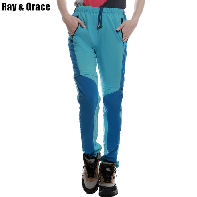 14f168486f2a RAY GRACE Women s Convertible Pants Quick Drying Light Weight Breathable  Hiking Fishing Outdoor Pants Climbing Trousers