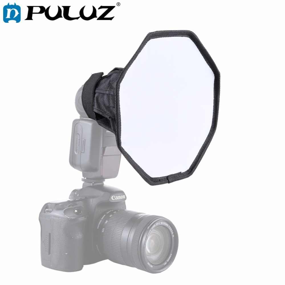 PULUZ 20 cm Octagon Speedlight Universal Dobrável Flash Light Difusor Softbox Difusor Macio Box para Canon/Nikon/Sony /Olympus