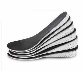 รองเท้า Pad ความสูงที่เพิ่มขึ้น Insoles ผู้ชายผู้หญิง EVA Breathable สบาย Insoles รองเท้าสีดำ Insoles
