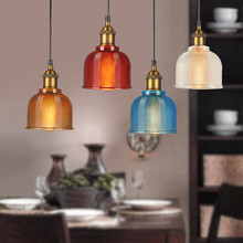 Glass Pendant Lights Kitchen Island Light Study Bar Modern Lighting Bedroom Home Ceiling Lamp Include Bulb