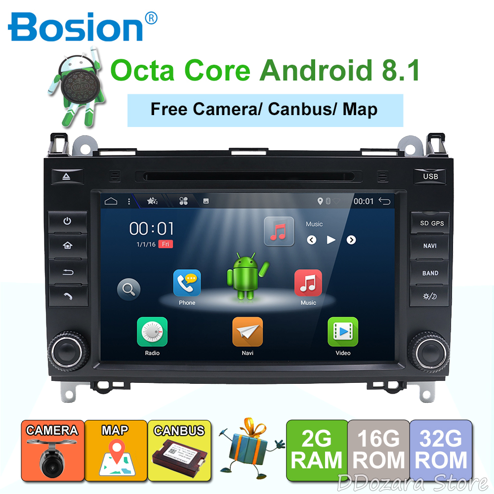 8 cores Bosion Android 8 1 8 Inch font b Car b font DVD Player For