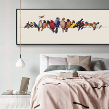 Retro Minimalist Bird Perched Nordic Canvas Painting Art Print Poster Modern Bedroom Wall Can Be Customized
