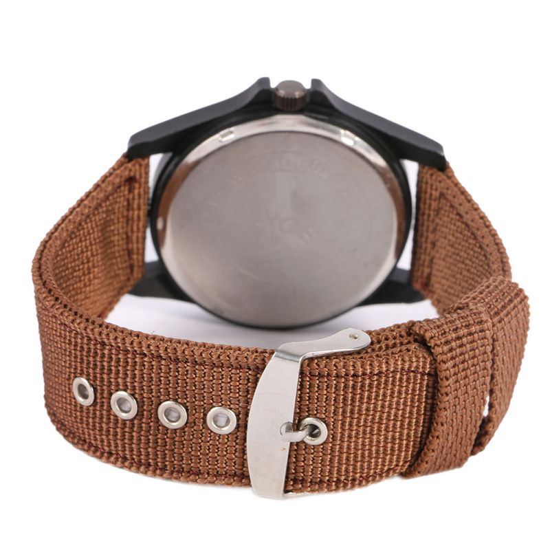 3 kleuren Solider Military Army Watch Heren Sport Style Canvas riem - Herenhorloges - Foto 3