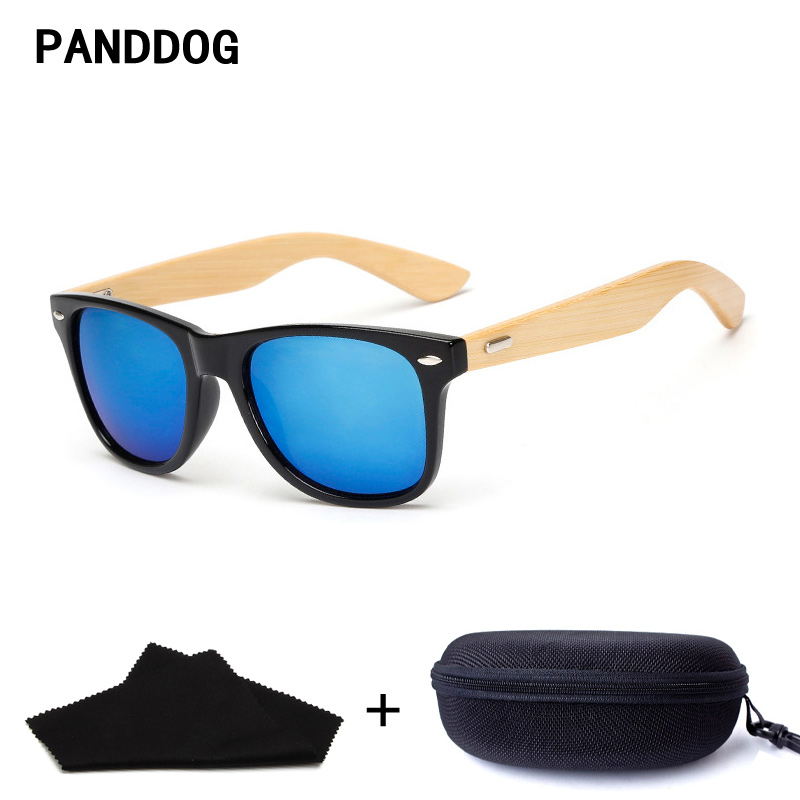 f26eab9d9910a Best buy PANDDOG handmade wooden bamboo sunglasses for women men with  glasses case and cloth wholesale LHKP1501 online cheap