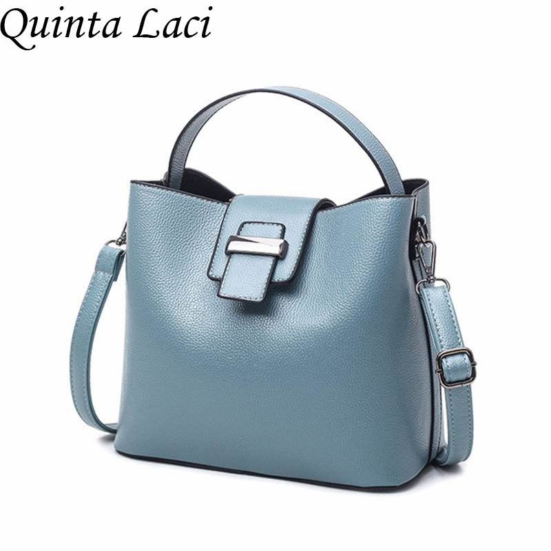 Quinta Laci Women bag 2017 New Summer Fashion Shoulder Bags Europen and American Style PU Leather