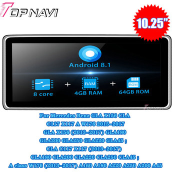 10.25'' Android 8.1 Autoradio Car Radio Multimedia player For Mercedes Benz GLA X156 CLA C117 X117 A W176 2012-2015 GPS Stereo image