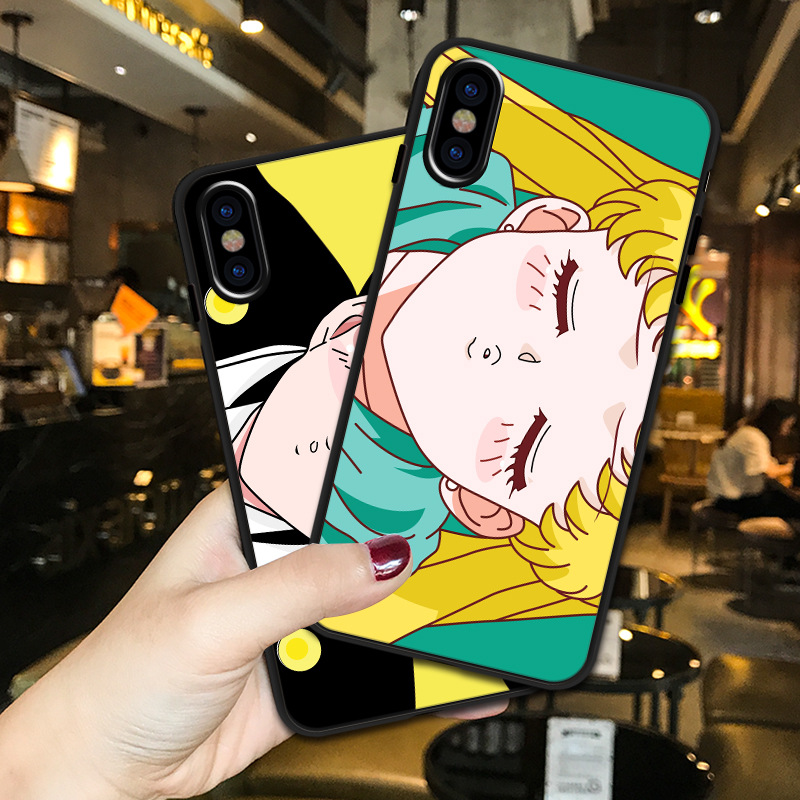 Couple Sailor Moon figure kawaii case silicone cover For coque iPhone XS max XR X 8 7 6s 6 Plus cartoon anime phone cases capa