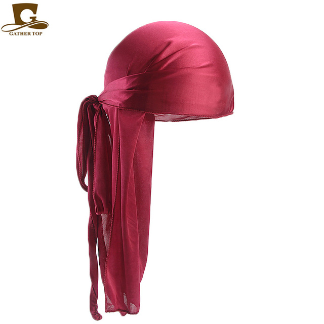 50pcs/lot Men's Silky Durags Bandanas Turban hat Wigs Doo Men Satin Durag Biker Headwear Headband Hair Accessories 4