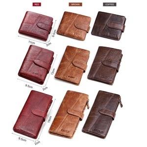 Image 5 - KAVIS 2020 New Designer Men Leather Wallets Casual Male Wallet Clutch Bag Brand Long Wallet Genuine Leather Brand Wallet For Men
