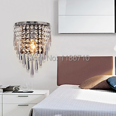K9 Crystal wall lamp modern wall light Decorative lamps and includes led bulbs Free shipping