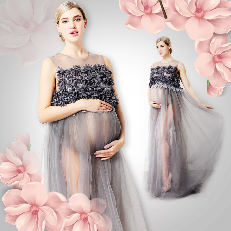 Long Lace Maternity Dresses For Photo Shoot Pregnancy Dress Photography Maternity Photography Props Embarazada Vestidos GravidasLong Lace Maternity Dresses For Photo Shoot Pregnancy Dress Photography Maternity Photography Props Embarazada Vestidos Gravidas